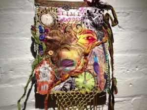 """Eye of Time (Peacock God Feather)"" - fiber art / mixed media by Michael Sylvan Robinson (2010)"