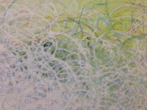 """Detail image of Greg Minah's """"a priori unities"""" (2014) exhibited in Shifting Ground at Goucher College"""